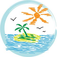 Vector illustration - island