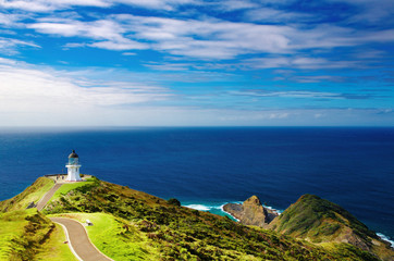 Canvas Prints New Zealand Cape Reinga Lighthouse, New Zealand