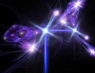 Dynamic fractals of blu star