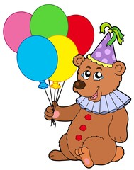 In de dag Beren Clown bear with balloons