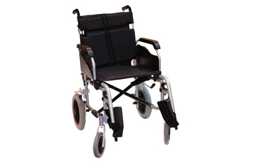 A Manual Wheelchair for a Disabled Person.