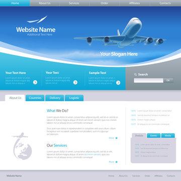 Web site design template 6, vector