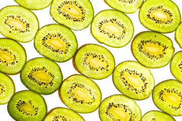green kiwi slices wallpaper