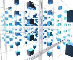 network cubes - pattern