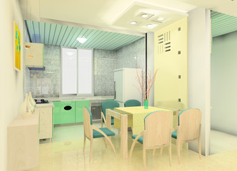 A kind of kitchen design