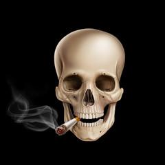 cigarette skull