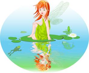 Keuken foto achterwand Magische wereld Water fairy