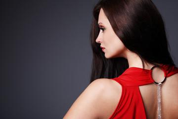 Elegant brunette.