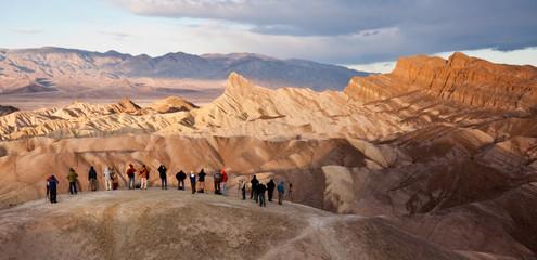 Tourists at Zabriskie Point in Death Valley National Park