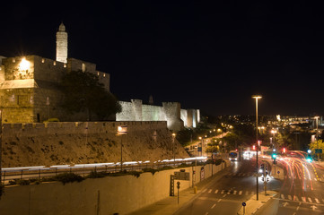 The tower of David, Jerusalem by night