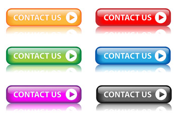 """""""Contact Us"""" buttons (various colours with reflection)"""
