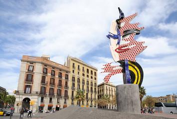 Barcelonas Head - modern art in Barcelona, Spain