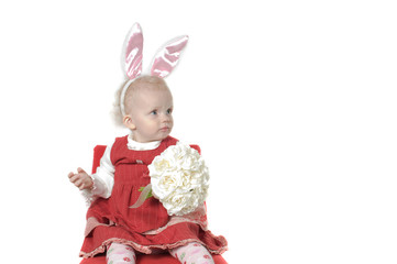 Baby with hare ears