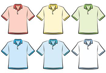 Polo shirts - Vector Illustration