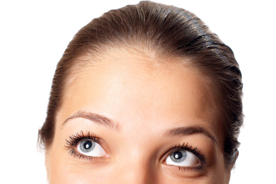 Cropped image of young woman 's half face