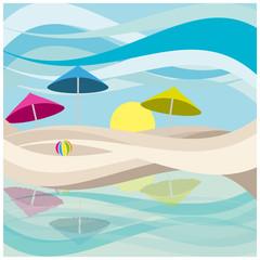 spiaggia e ombrelloni