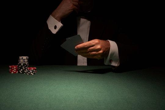 Card player in casino
