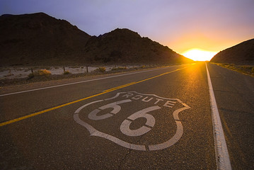 Foto op Canvas Route 66 Historical route 66
