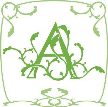 A alphabet enluminure