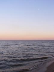 sea morning moon
