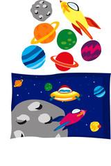 Garden Poster Cosmos spazio