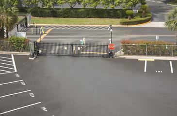 parking lot security gate