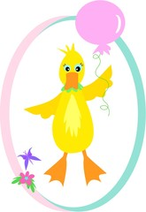 Duck with a Floating Balloon