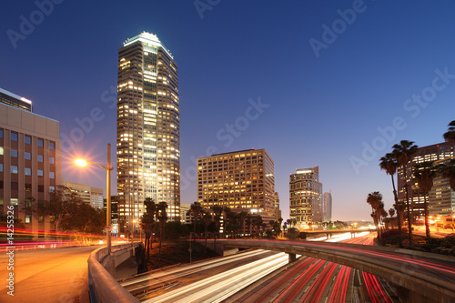 Fototapete Downtown Los Angeles night view