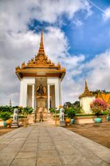 temple at the royal palace - cambodia (hdr)