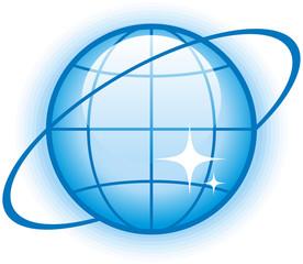 Globe Glossy Vector Icon