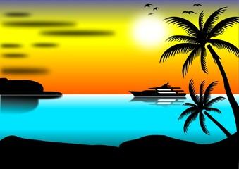 Sommer,Insel und Boot