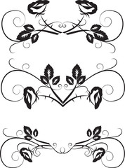 floral design elements with roses