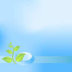 Eco background with water drop
