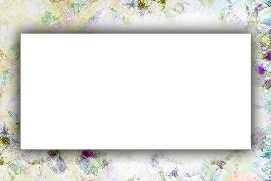 tarjeta floral antigua