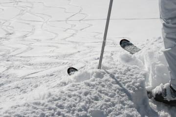 Skifahrer vor dem Start