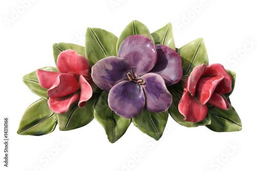 fleurs en c ramique photo libre de droits sur la banque d 39 images image 14316166. Black Bedroom Furniture Sets. Home Design Ideas
