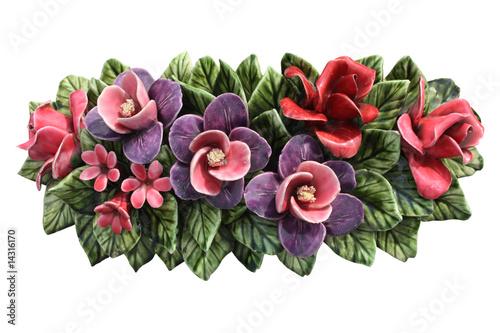 fleurs en c ramique photo libre de droits sur la banque d 39 images image 14316170. Black Bedroom Furniture Sets. Home Design Ideas