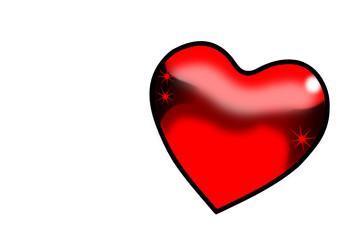 Liebes Herz in Rot