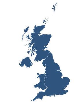 UK map with white background