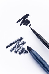 Black eyeliner an pencil
