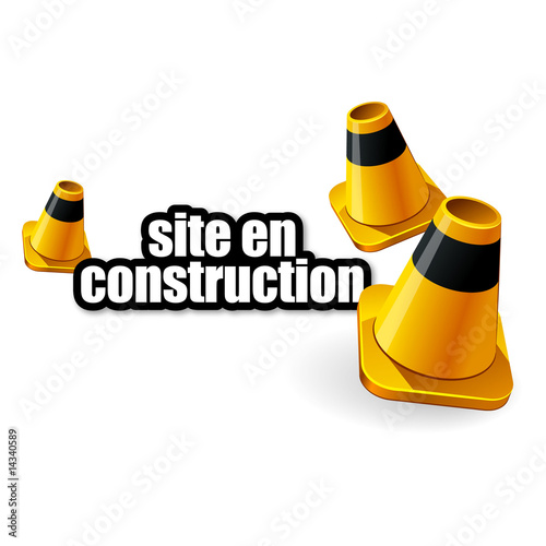 Site en construction fichier vectoriel libre de droits for Plan de construction en ligne