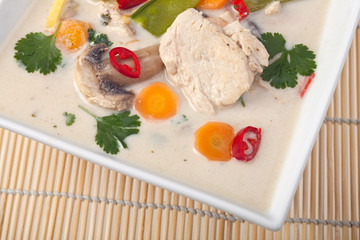 Thai Tom kha gai Suppe