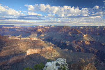 a spectacular view over the Grand canyon at sunset