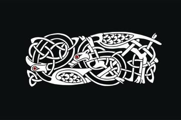 Tatuaggio simbolo celtico vettoriale