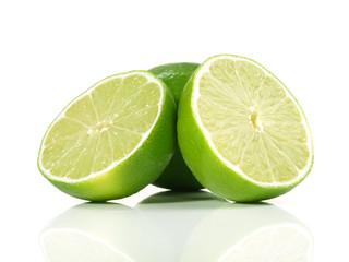 Halbierte Limette