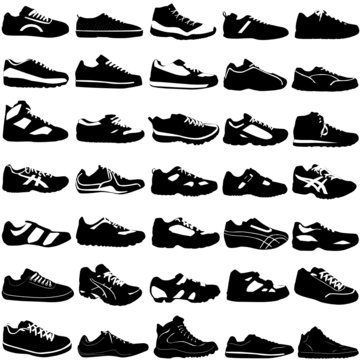 shoes vector (fashion, sport, street, different style)
