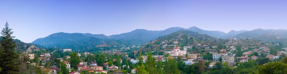 Panorama of small mountain village