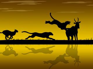 Caccia nella savana