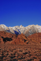 Mt. Whitney in the Midst of Valley Rock Formations