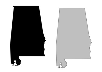Alabama vector map